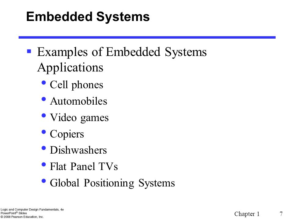 Examples of Embedded Systems Applications