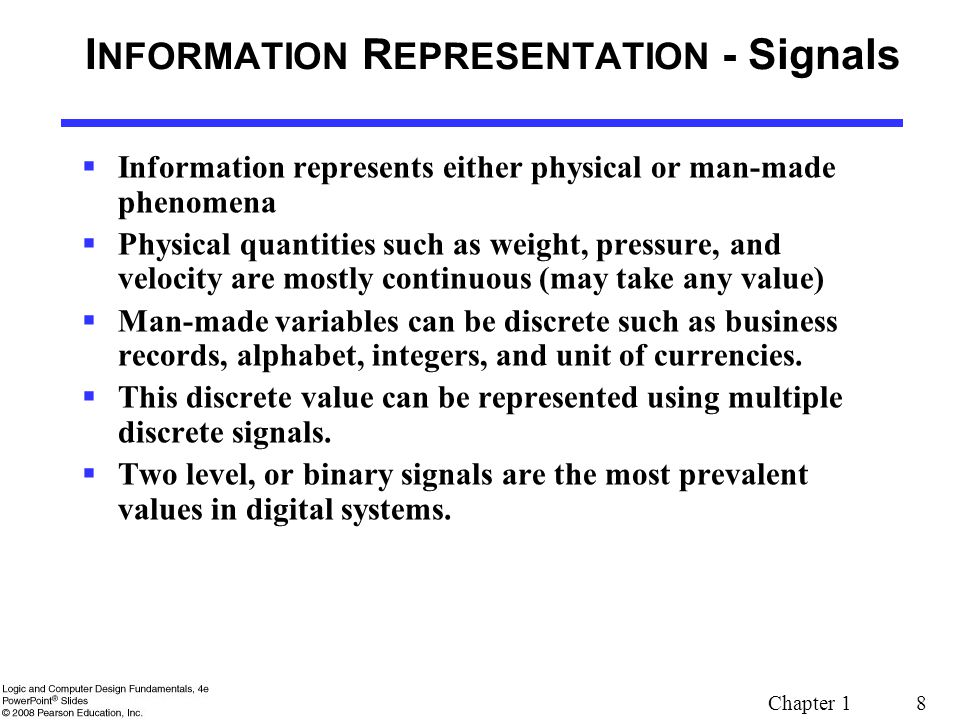 INFORMATION REPRESENTATION - Signals