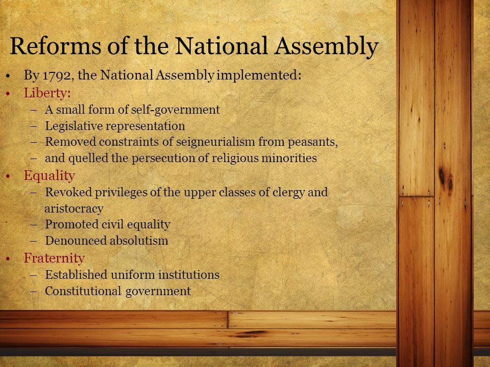 The Formation of a National Government