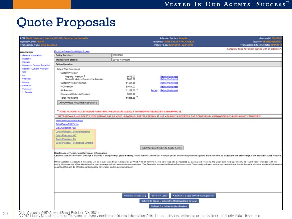 Quote Proposals