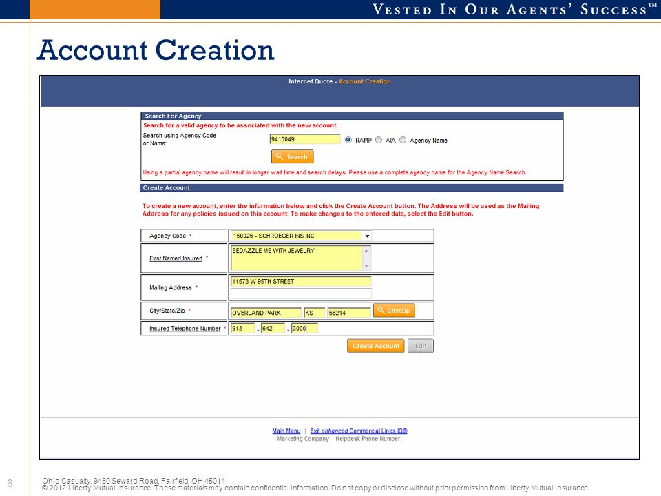Account Creation