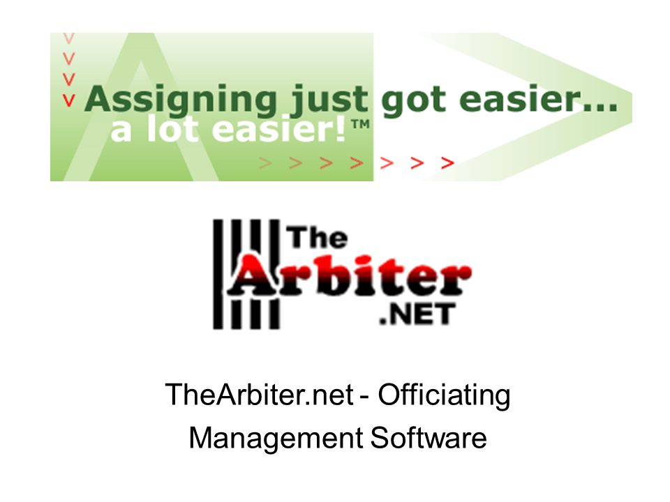 TheArbiter.net - Officiating Management Software