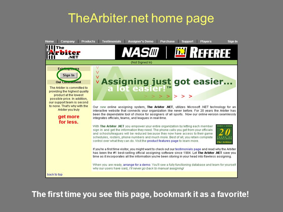 TheArbiter.net home page