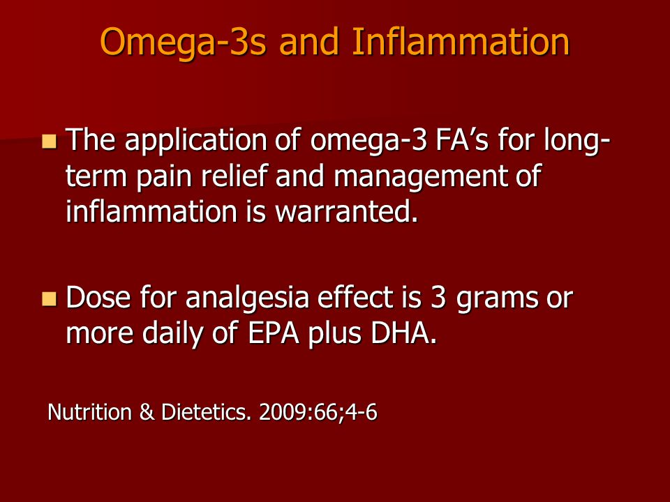 Omega-3s and Inflammation