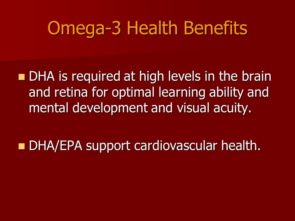 Omega-3 Health Benefits