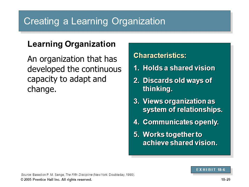 Creating a Learning Organization