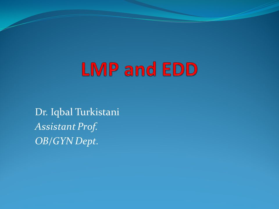 Dr. Iqbal Turkistani Assistant Prof. OB/GYN Dept.