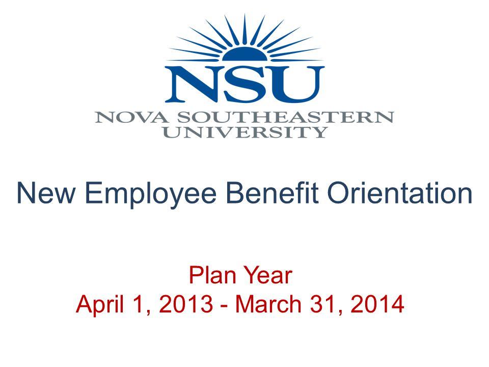 New Employee Benefit Orientation