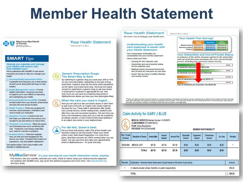 Member Health Statement