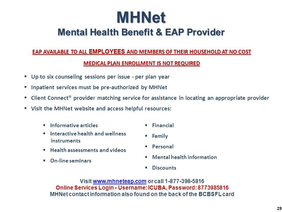 MHNet Mental Health Benefit & EAP Provider