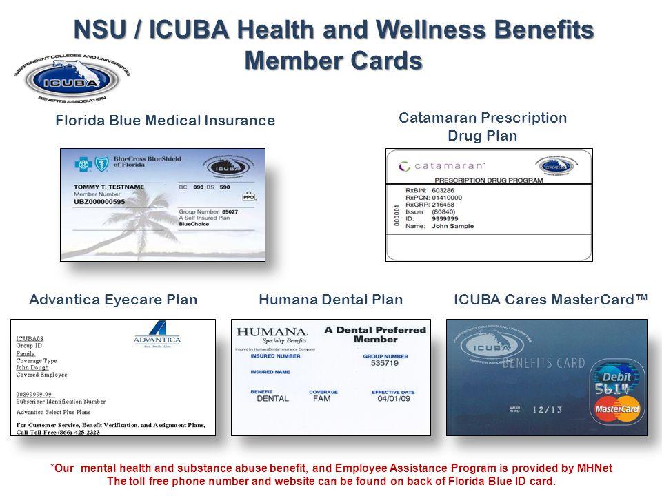 NSU / ICUBA Health and Wellness Benefits Member Cards
