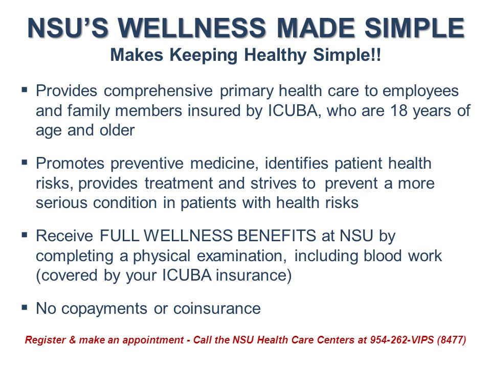 NSU'S WELLNESS MADE SIMPLE Makes Keeping Healthy Simple!!