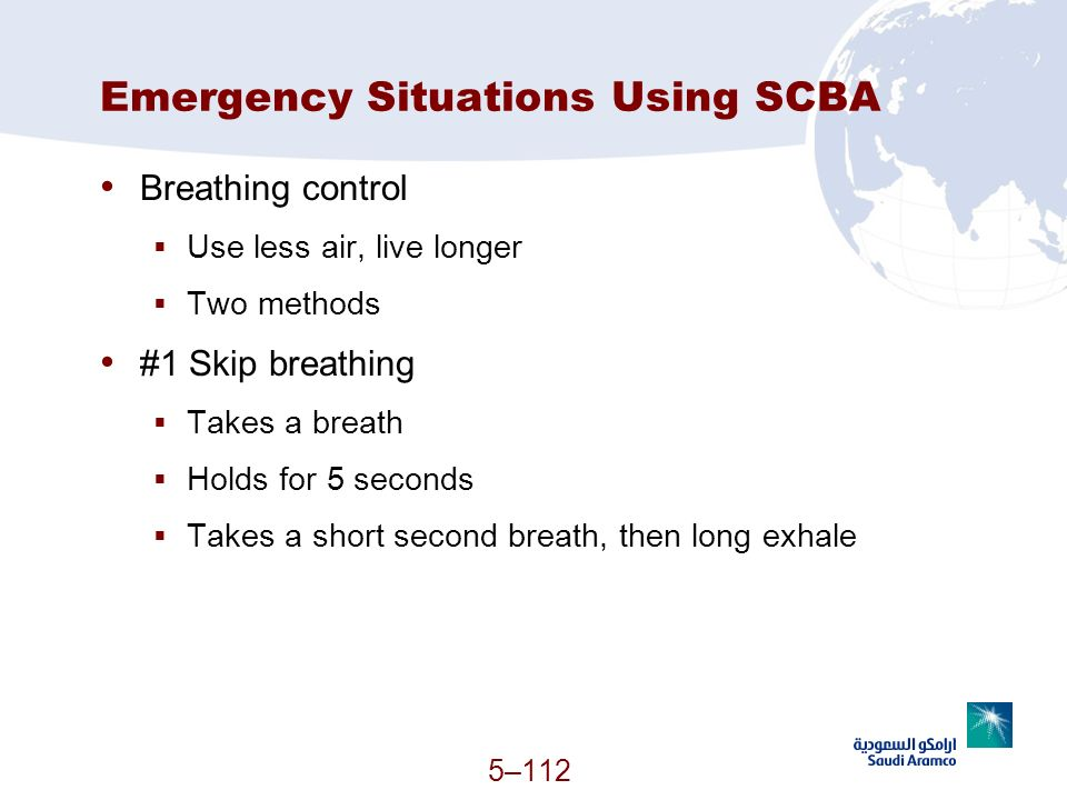 Emergency Situations Using SCBA