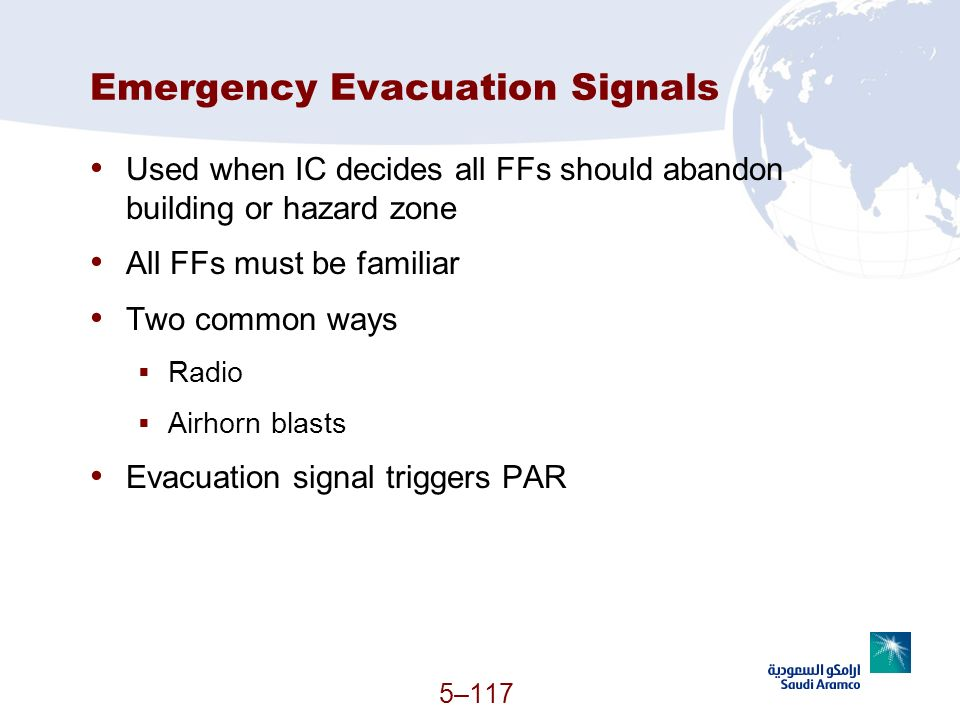 Emergency Evacuation Signals
