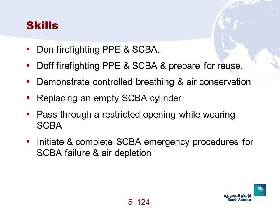 Skills Don firefighting PPE & SCBA.