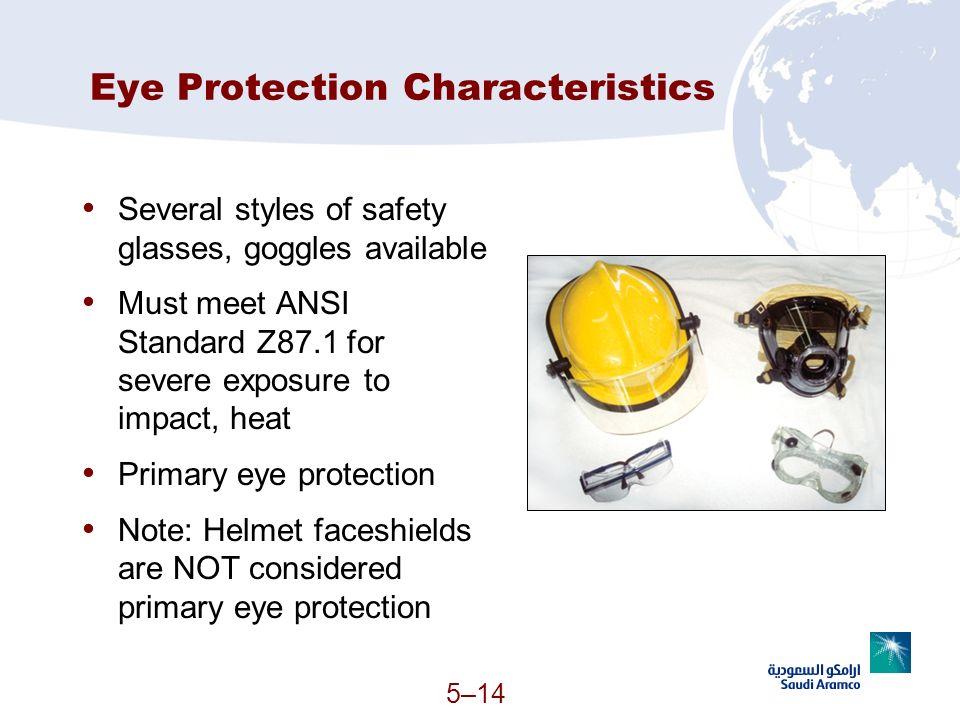 Eye Protection Characteristics