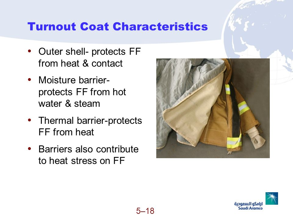 Turnout Coat Characteristics