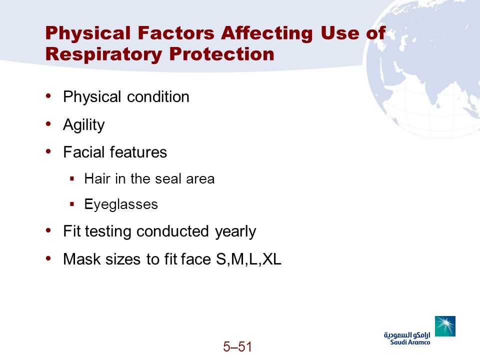 Physical Factors Affecting Use of Respiratory Protection