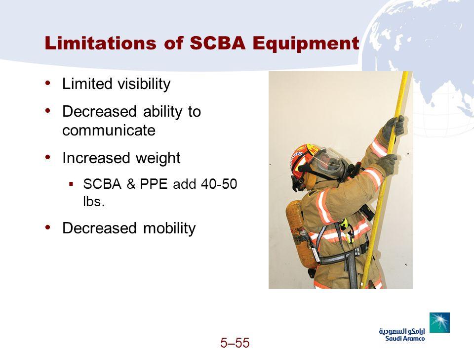Limitations of SCBA Equipment