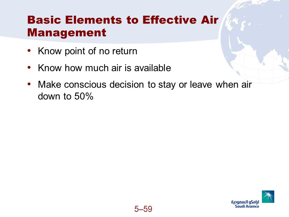 Basic Elements to Effective Air Management