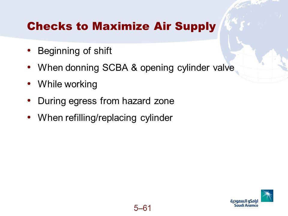 Checks to Maximize Air Supply