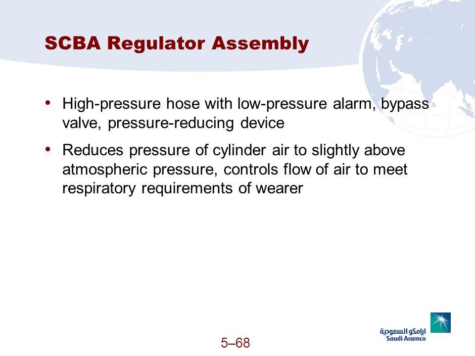 SCBA Regulator Assembly