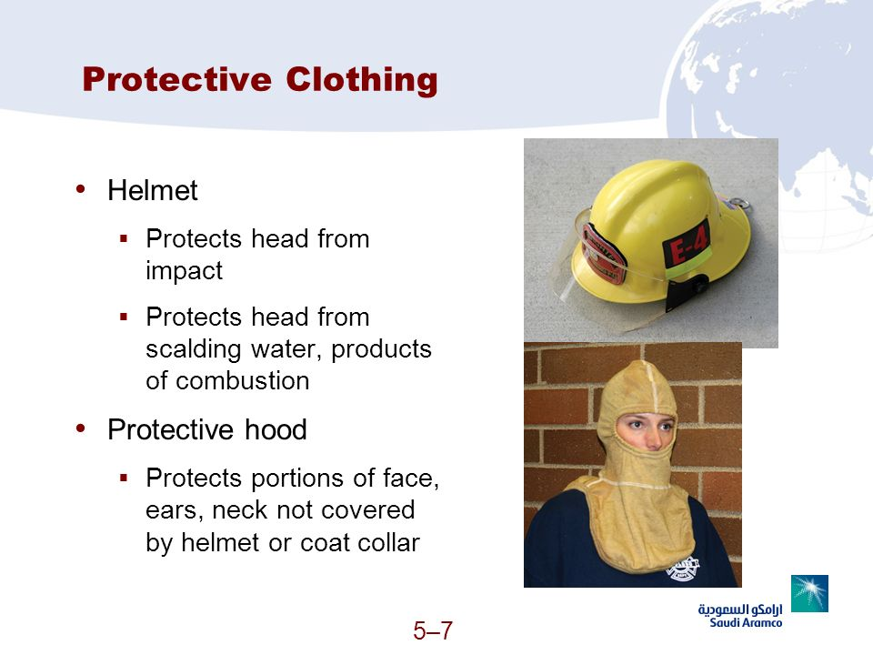 Protective Clothing Helmet Protective hood Protects head from impact