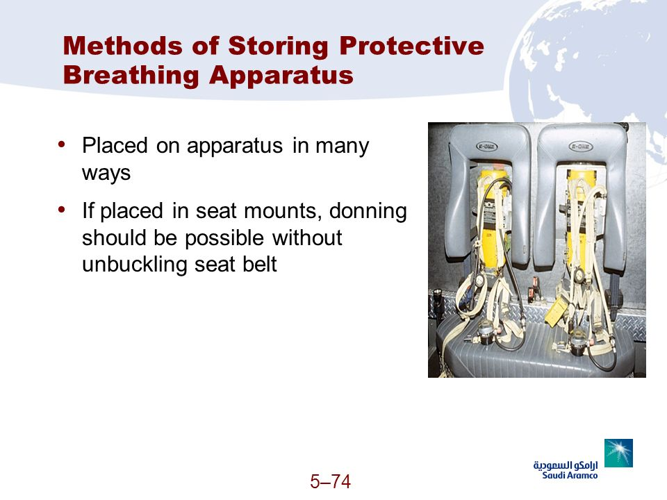 Methods of Storing Protective Breathing Apparatus
