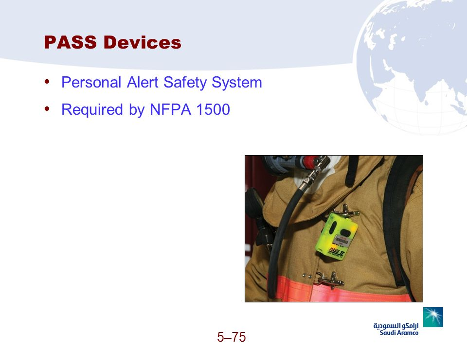 PASS Devices Personal Alert Safety System Required by NFPA 1500