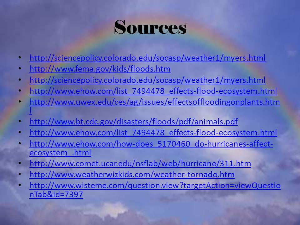 Sources http://sciencepolicy.colorado.edu/socasp/weather1/myers.html