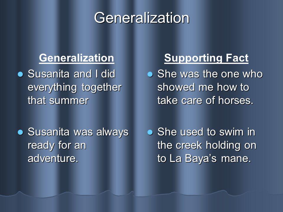 Generalization Generalization