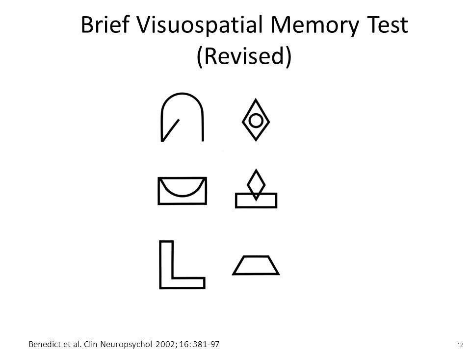 Brief Visuospatial Memory Test (Revised)
