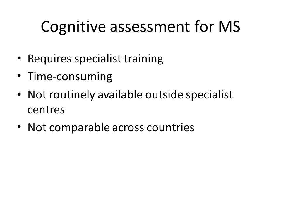 Cognitive assessment for MS