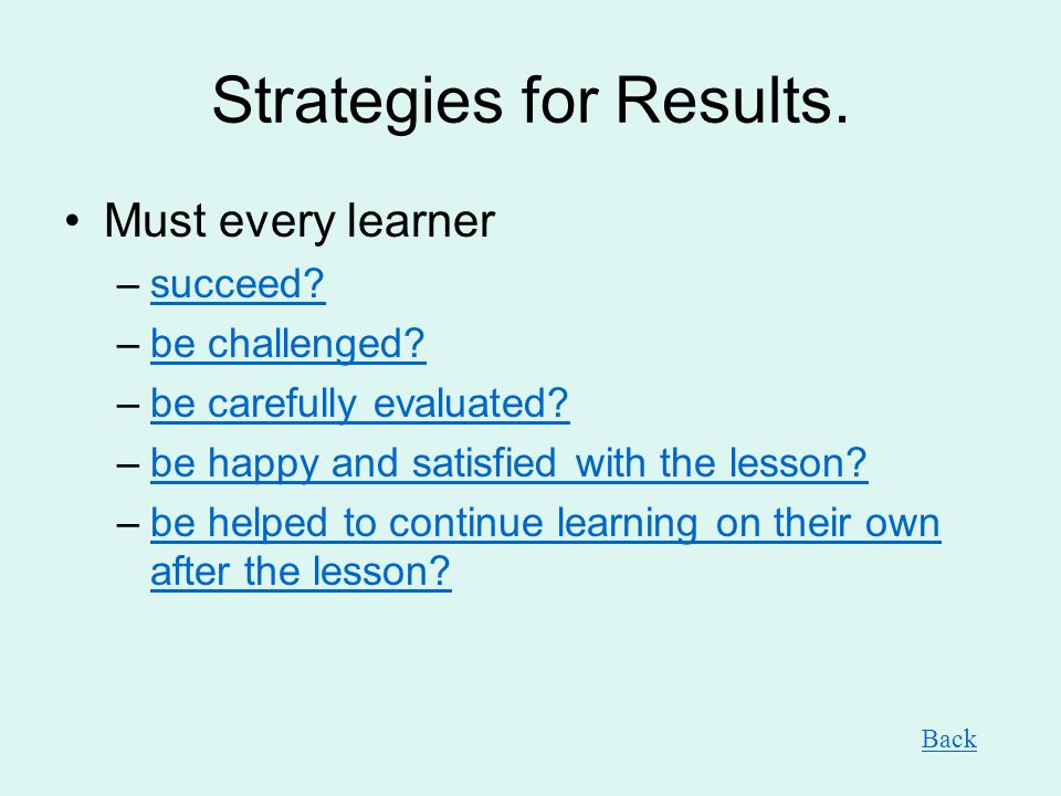 Strategies for Results.