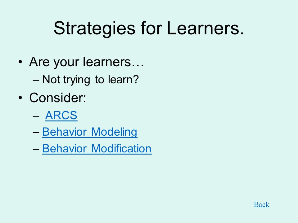 Strategies for Learners.