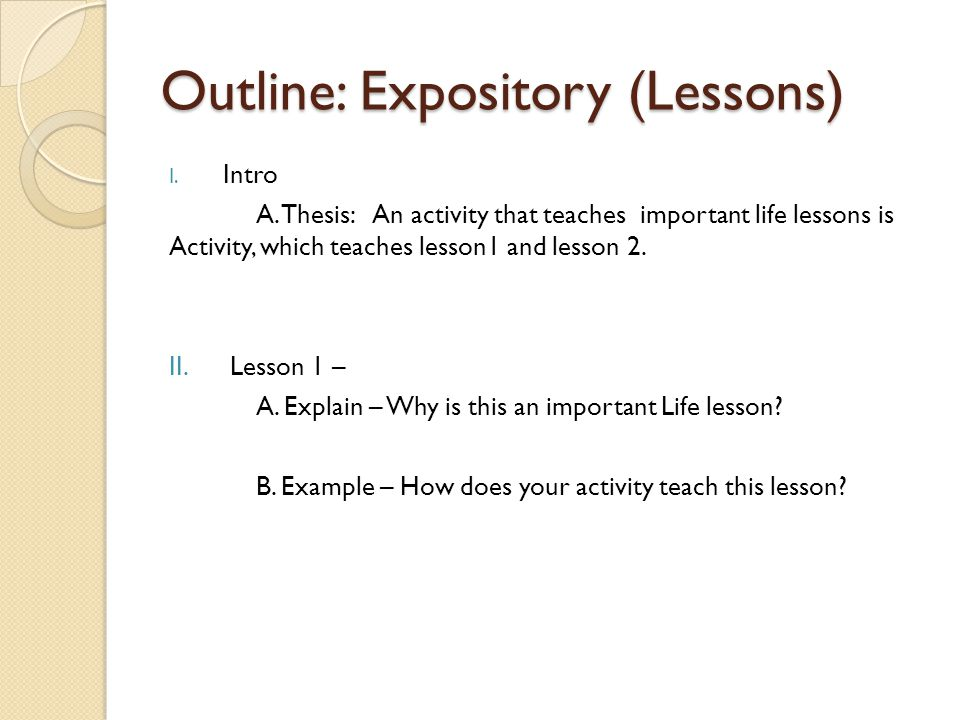 Outline: Expository (Lessons)