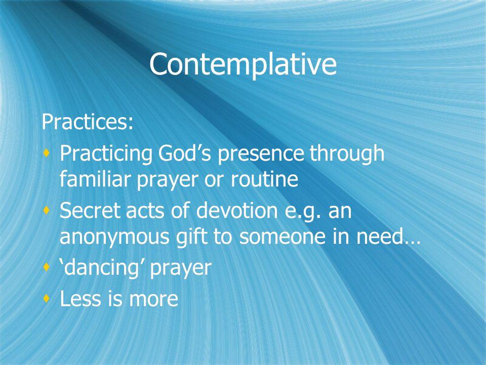 Contemplative Practices: