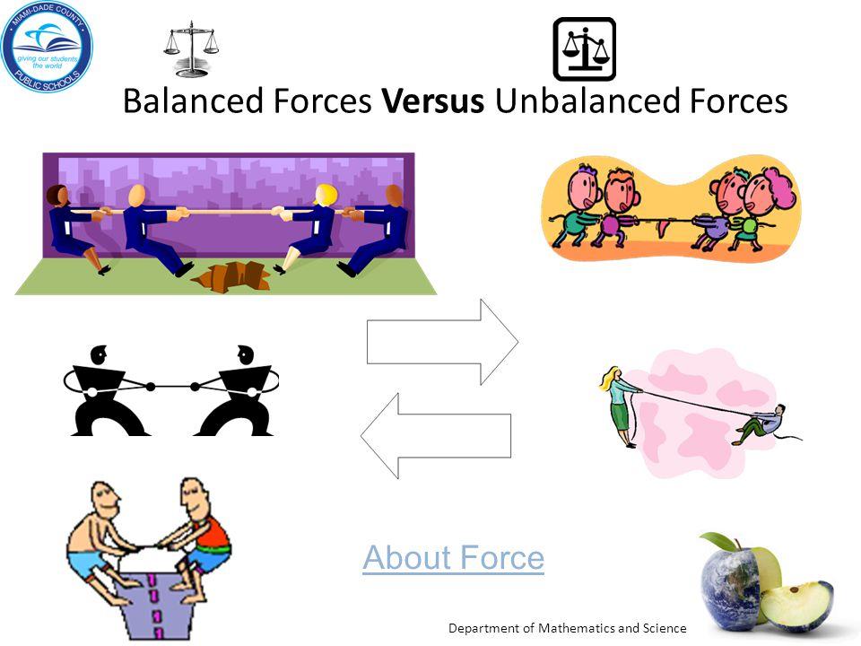Balanced Forces Versus Unbalanced Forces