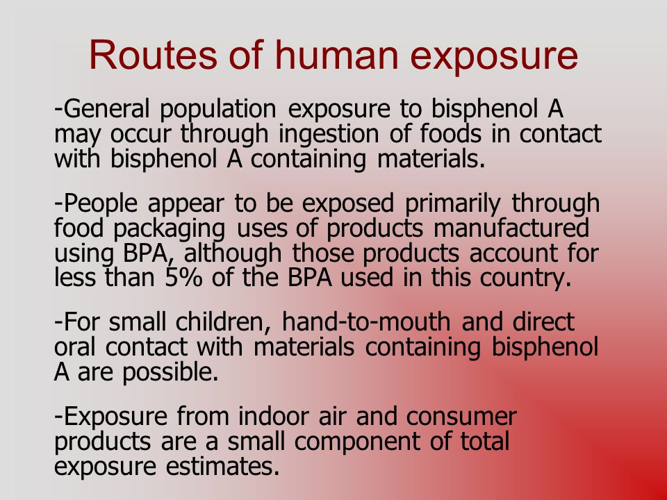 Routes of human exposure