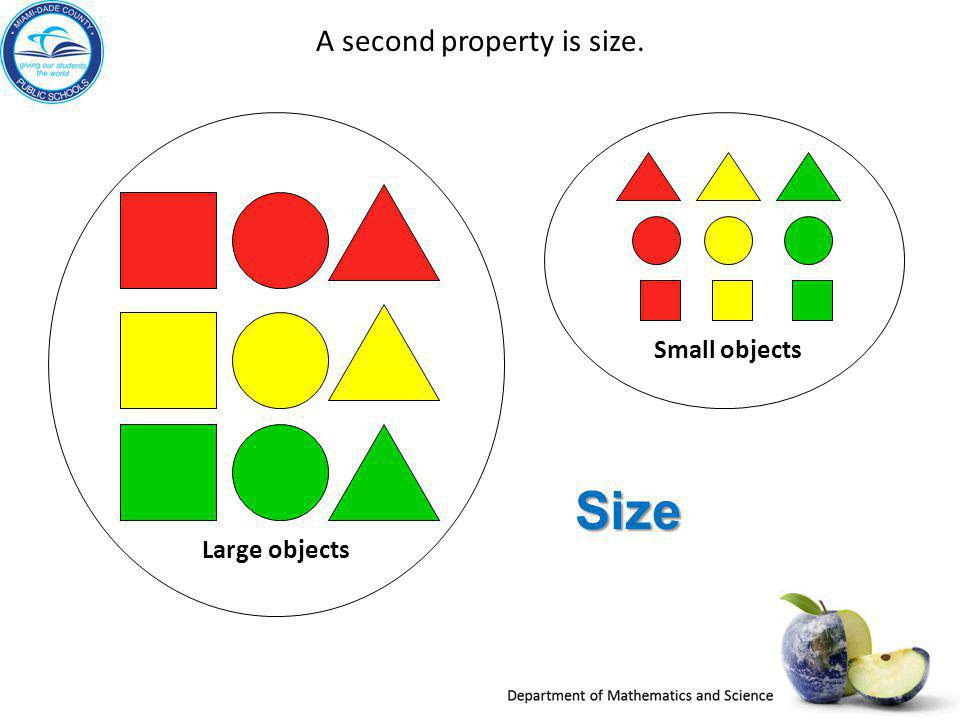 A second property is size.
