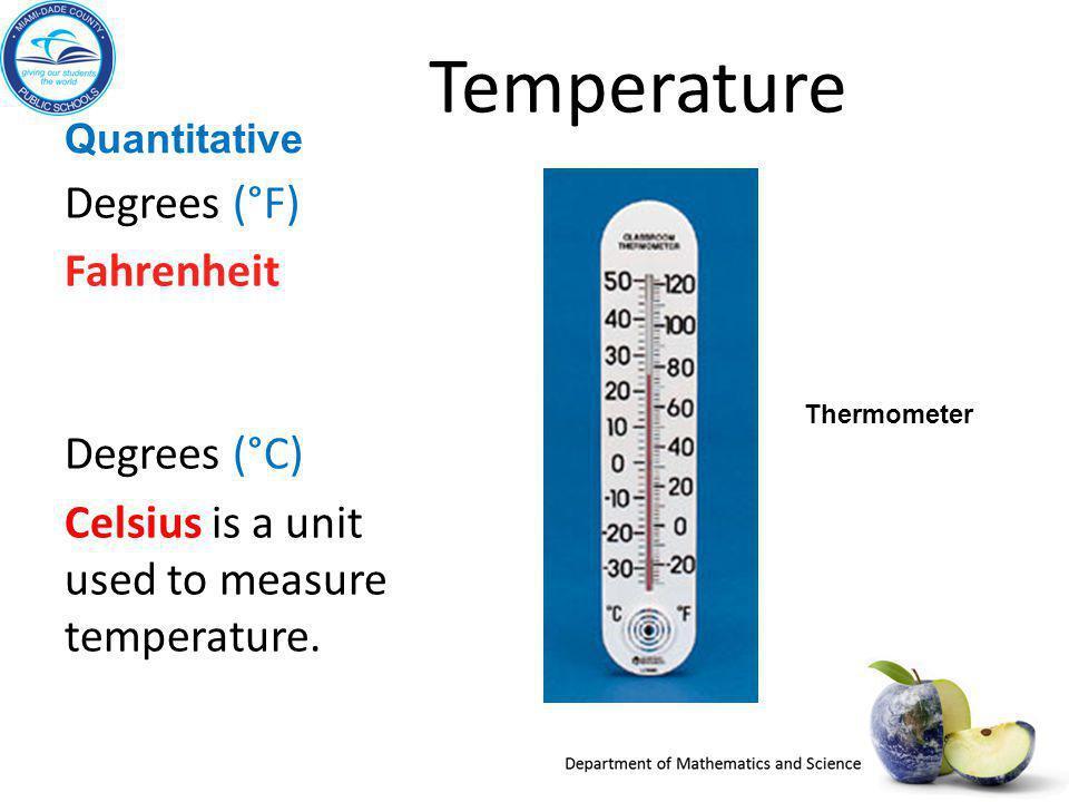 Temperature Degrees (°F)