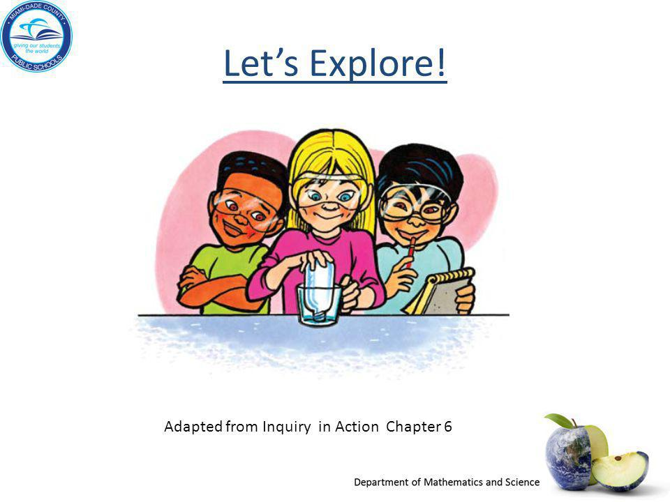 Let's Explore! Adapted from Inquiry in Action Chapter 6