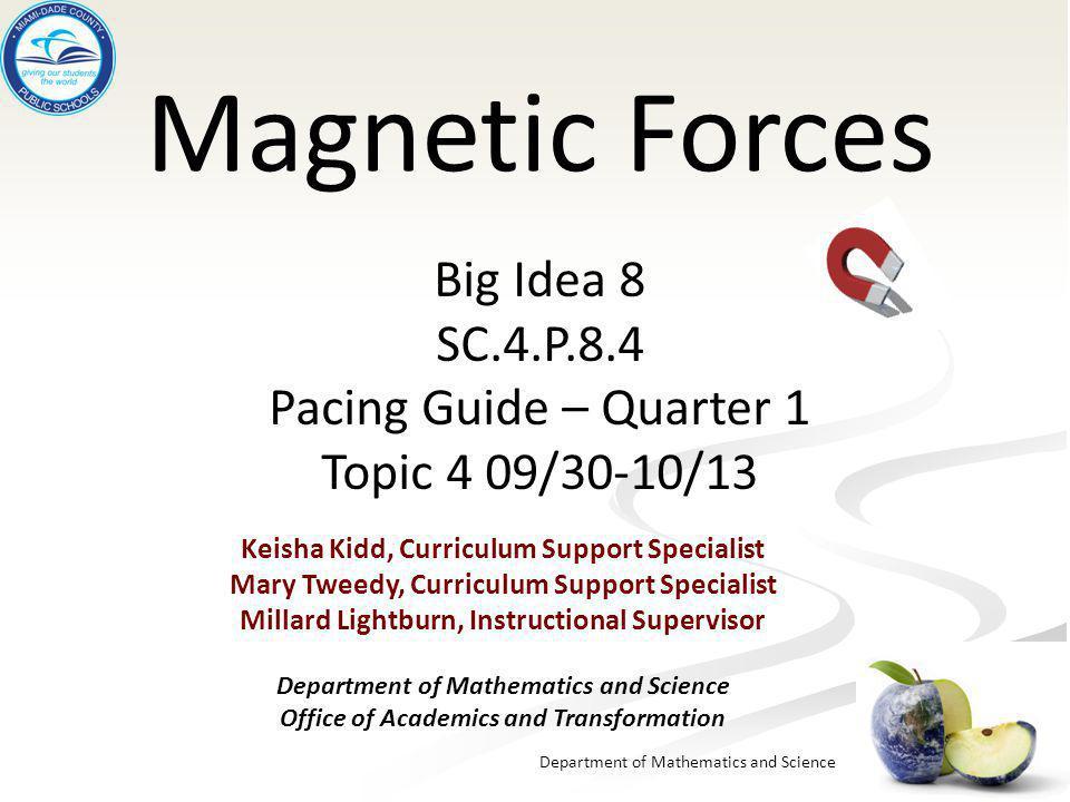 Magnetic Forces Big Idea 8 SC.4.P.8.4