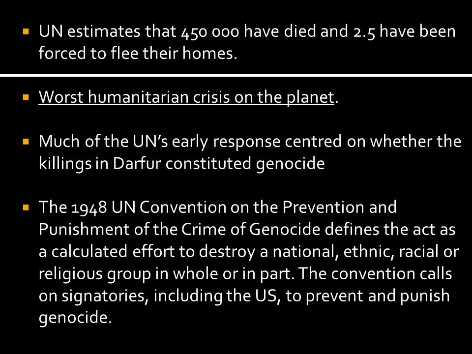 UN estimates that 450 000 have died and 2