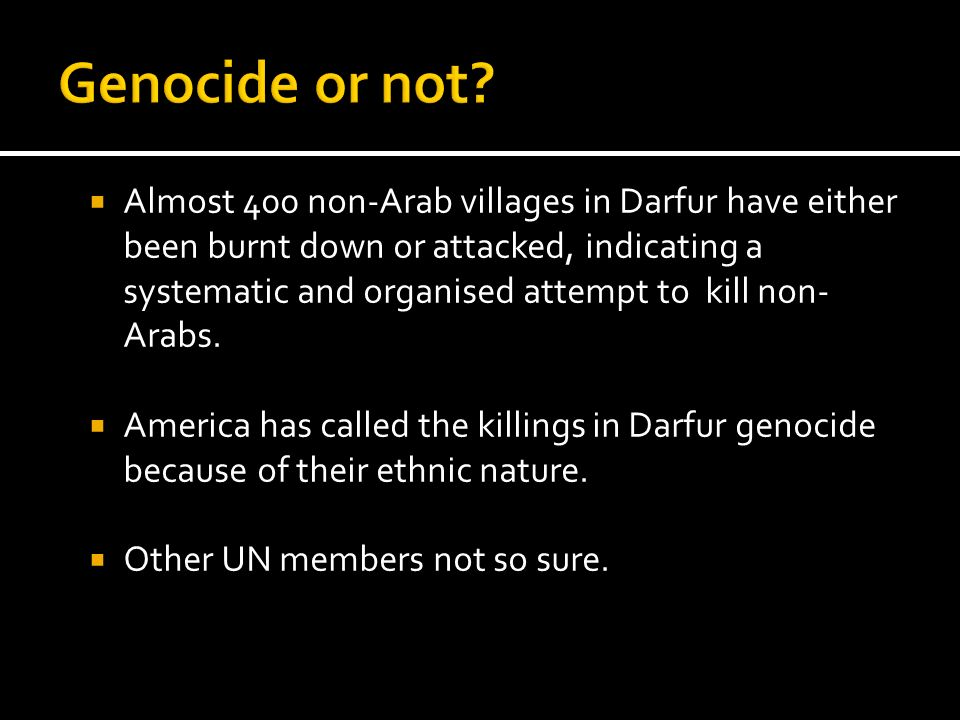 Genocide or not