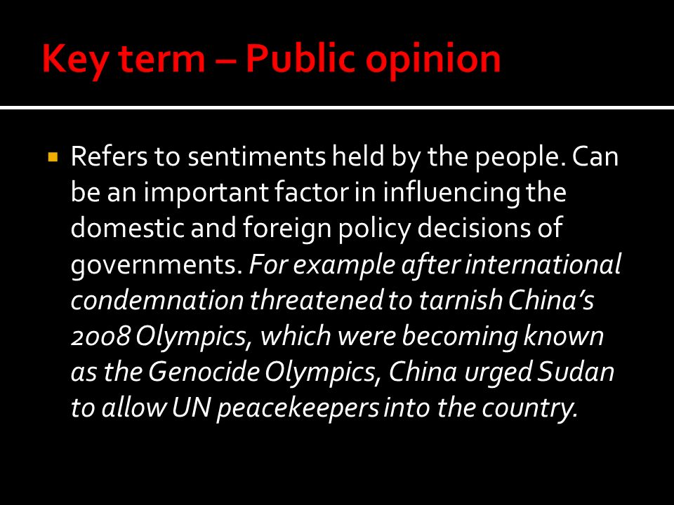 Key term – Public opinion