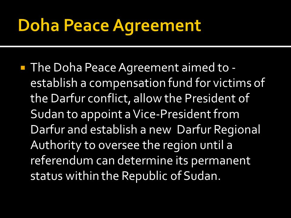 Doha Peace Agreement