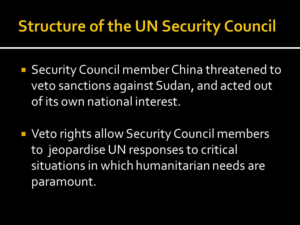 Structure of the UN Security Council