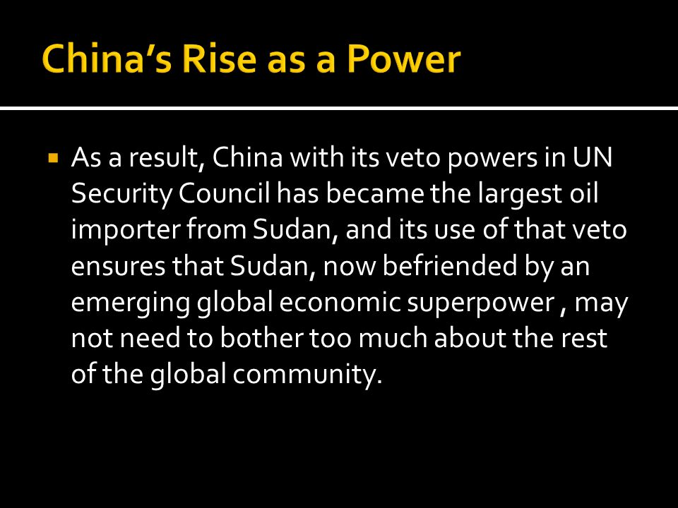 China's Rise as a Power