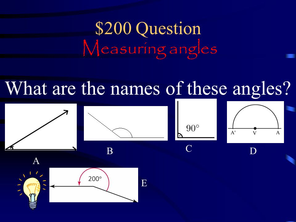 $200 Question Measuring angles